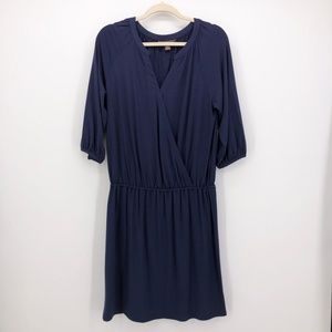 TOMMY BAHAMA Wrap Bodice Dress Coverup Navy Jersey